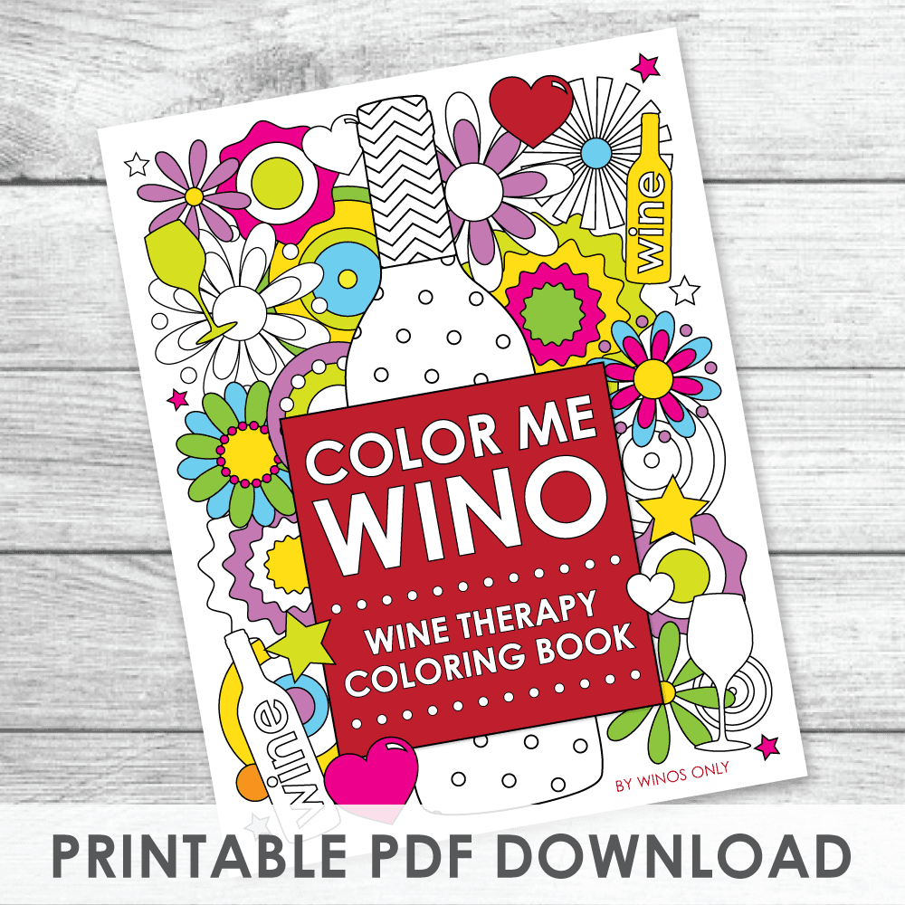 Color Me Wino Wine Therapy Coloring Book PDF Download