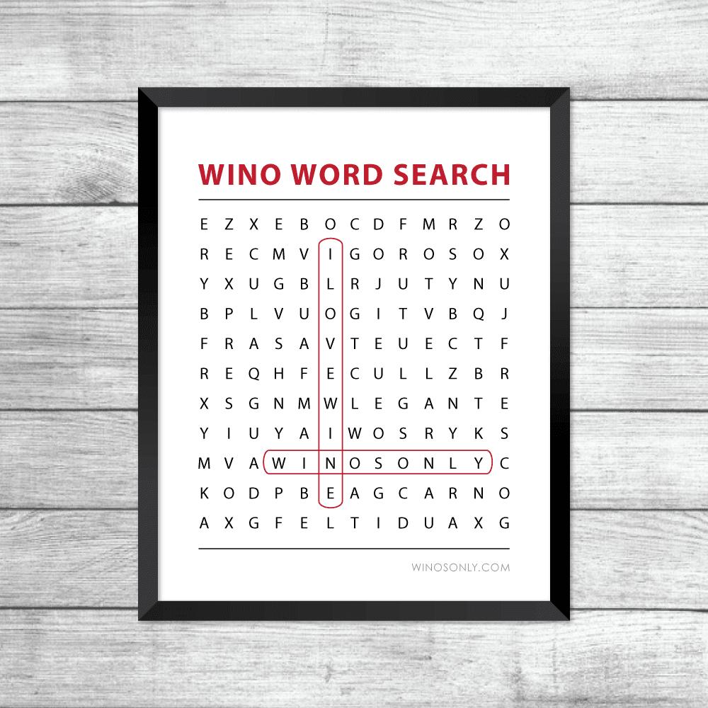 Wine Frame Art Printable PDF Download
