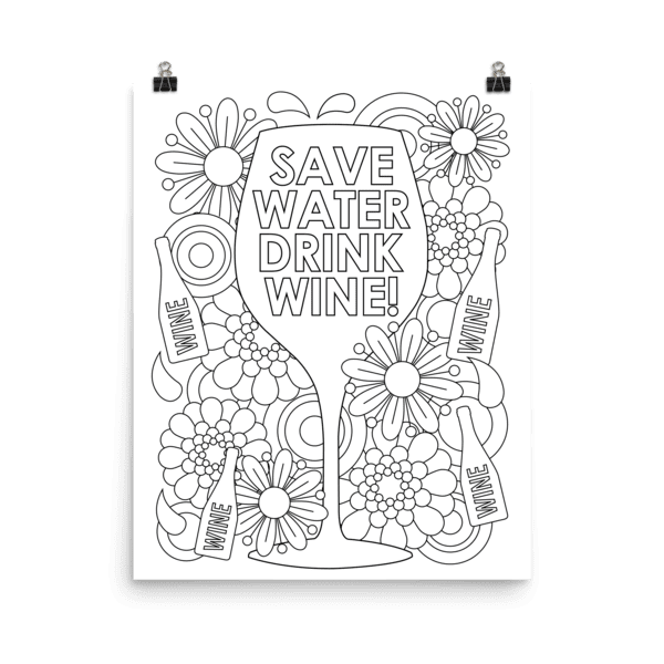 Coloring Canvas & Poster Art