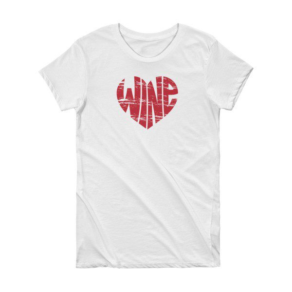 8a5c53973a19 Wine Heart Vintage Graphic Tee – Short Sleeve Women's T-shirt in White
